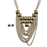 "30% off use promo code ""wanelo"" at checkout. Giza Glam Gold Stud Necklace"