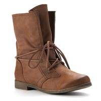 Lace-Up Combat Boots - Women