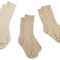 Gold Toe Boys 8-20 3 Pack Wide Rib Crew Sock
