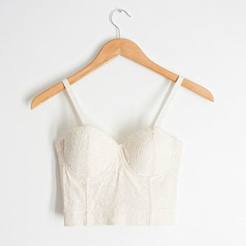 Cream Lace Bustier