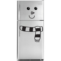 Snowman Fridge Decal by decaltopia on Etsy