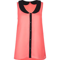 Peter Pan Collar Womens Top 202188313 | Blouses & Shirts | Tillys.com