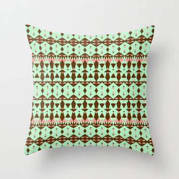 Oasis #4 Throw Pillow by Ornaart