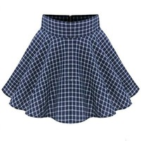 Lovely Grid Skater Skirt