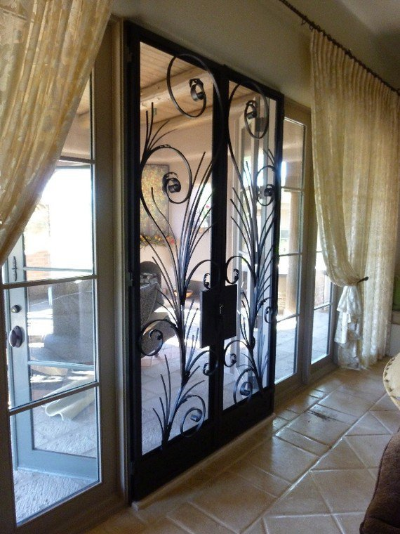 Elegant Interior Screen Door Pair by originalmetalworks on Etsy