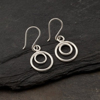 Simple Silver Earrings Sterling Silver Hoop Earrings by Artulia