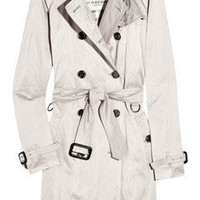 Burberry | Crinkled-satin trench coat | NET-A-PORTER.COM