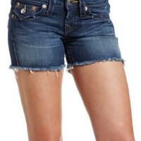 True Religion Women&#x27;s Keira Mid-Thigh Cut-Off Short