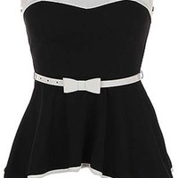 Sweetheart Belted Top