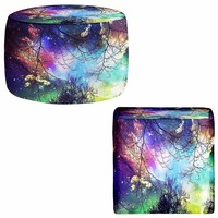 Ottoman Foot Stool Pouf Round or Square from DiaNoche Designs by Sylvia Cook Home Decor and Bedroom Ideas - Look to the Stars