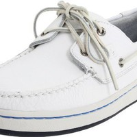 Sperry Top-Sider Men`s Sperry Cup Boat Shoe,White/Blue,9.5 M US