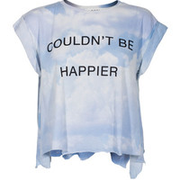 WILDFOX Couldn´t Be Happier Multi Cropped t-shirt with print - T-Shirts & Tanks