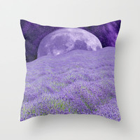 LAVENDER MOON Throw Pillow by Catspaws   Society6