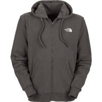 Mens The North Face Logo Full Zip Hoodie Graphite Grey