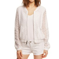 CROCHETED BOMBER JACKET