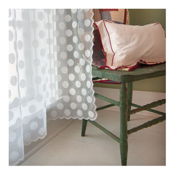 Heritage Lace Polka Dot Rod Pocket Window Treatment Collection
