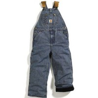 Carhartt Kid's Taffeta Lined Insulated Denim Bib Overall