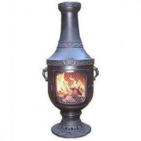 The Blue Rooster Venetian Style Chiminea - ALCH026x / COVER - Fireplaces & Accessories - Decor