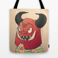 Mischievous Tote Bag by Cleonique Hilsaca