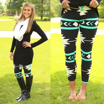 Check My Aztec Pattern Leggings