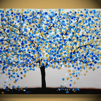 Large Tree Painting original Abstract art wall art interior desing wall art