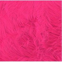 60&#x27;&#x27; Wide Faux Fur Luxury Shag Hot Pink Fabric By The Yard