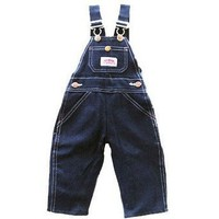 Round House Childrens 4-7 Bib Overall - Demin - Made in USA