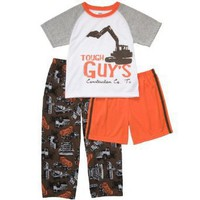 Carters Boys 4-7 Orange Tough Guy's Construction 3 Piece Poly Set