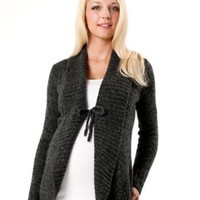 Motherhood Maternity: Long Sleeve Tie Detail Maternity Cardigan