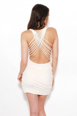 Fitted Criss Cross Back Dress by ShopAKIRA | Mini Dresses | ShopAKIRA.com