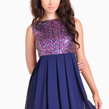Calista Sequin Top Dress