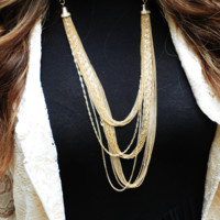 Living The Dream Life Necklace: Gold