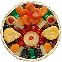 Broadway Basketeers  Heart Healthy Floral Dried Fruit (Medium) Gift Basket