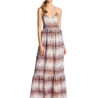 Parker Women's Cornelia Scatter Print Silk Maxi Dress