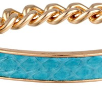 Sam Edelman Snake Metal Identification Bracelet