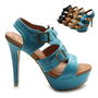 NEW Womens Ankle-Strap Buckles Accent Platforms High Heels Sandal Multi Colored | eBay
