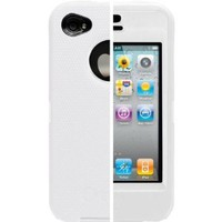 OtterBox Universal Defender Case for iPhone 4 (White Silicone & White Plastic)