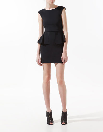 DRESS WITH FRILL AT THE WAIST - Dresses - Woman - ZARA Canada