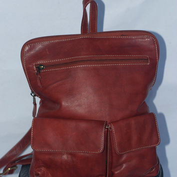 Chaos Leather Collection Red leather backpack/Rucksack bag