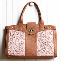 tulip lace turnlock satchel - $99.99 : ShopRuche.com, Vintage Inspired Clothing, Affordable Clothes, Eco friendly Fashion
