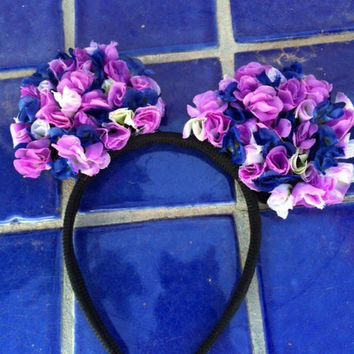 Floral Mickey Mouse Ears