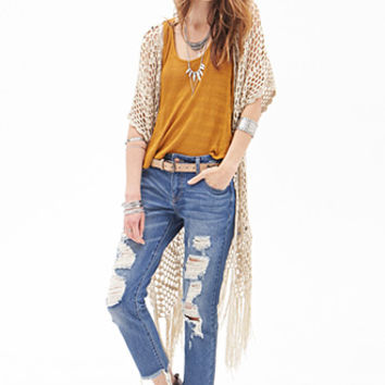 Mid-Rise - Destroyed Straight Leg Ankle Jeans