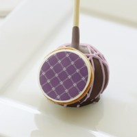 Purple and Silver Fancy Dress Party Cake Pops
