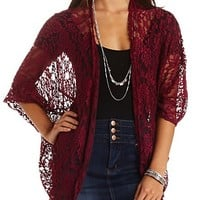 OVERSIZED LACE COCOON CARDIGAN