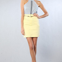 Motel The Charlie HiWaisted Skirt in Lemon : Karmaloop.com - Global Concrete Culture