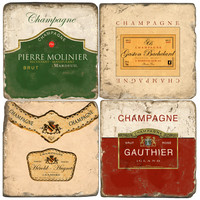 SAVE Champagne Drink Coasters