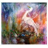 Great White Egret Florida Coastal Birds HUGE by GinetteFineArt