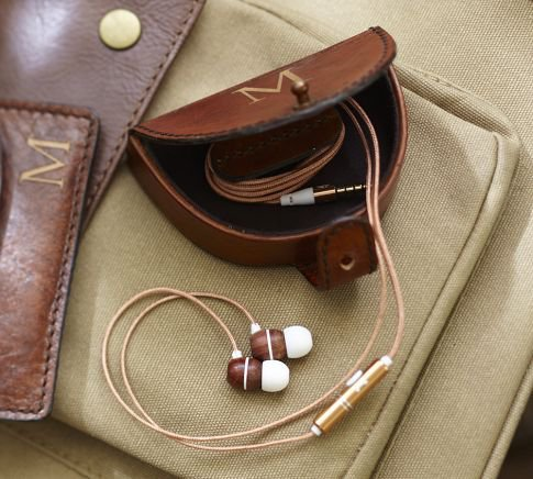 Saddle Leather Earphone Case | Pottery Barn