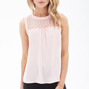 Ruffled Lace Insert Top