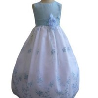 Classykidzshop Organza Embroidered Flower Special Occasion Dress